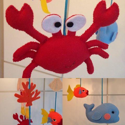 O carangueijo! #crab #feltrosepapeis #instagood #artesanato #fundodomar…