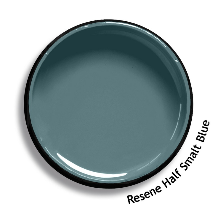 Resene Half Smalt Blue is a traditional blend of green and blue, mysterious and moody. From the Resene Karen Walker Paints colour range. Try a Resene testpot or view a physical sample at your Resene ColorShop or Reseller before making your final colour choice. www.resene.co.nz/karenwalker.htm