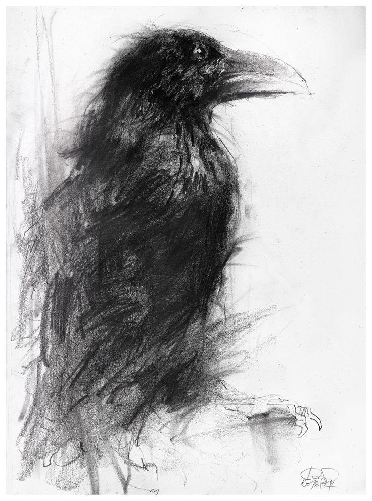 Годовщиной, картинки с воронами нарисованные