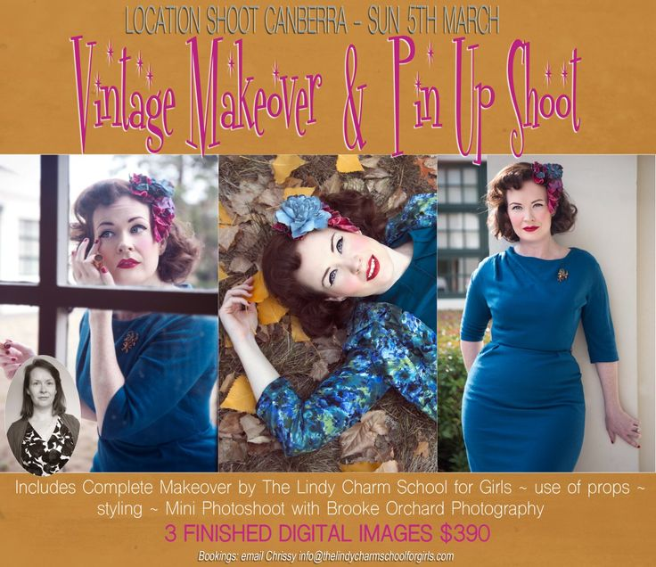 VINTAGE MAKEOVERS AND PIN UP PHOTOSHOOTS - CANBERRA - SUNDAY 5TH OF MARCH 2017