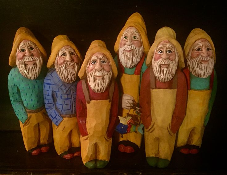 Hand carved Nova Scotia Fishermen by Elizabeth Brown, Liverpool,NS
