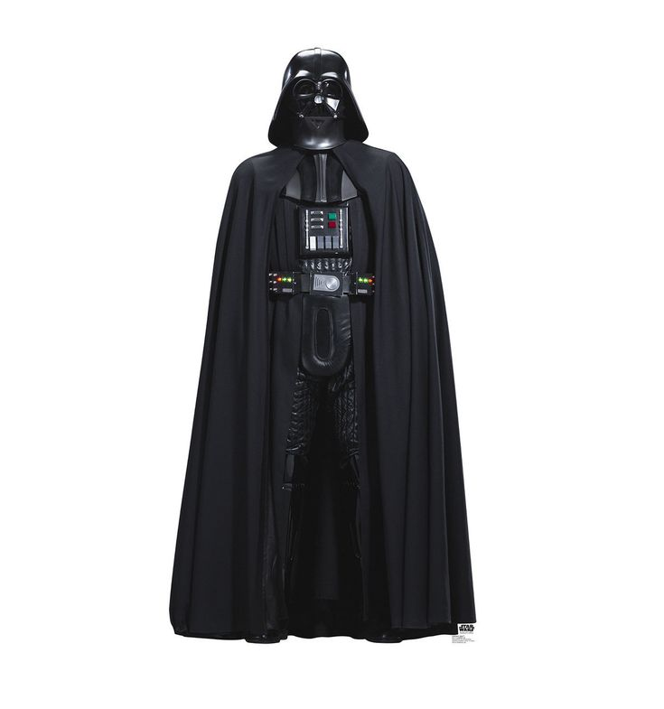 Life-size Darth Vader (Rogue One) Cardboard Standup that stands 76 inches tall and 38 inches wide. Free standing and comes with an easel back that easily folds up.