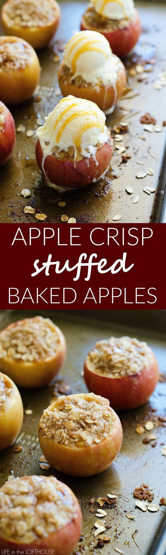 Apple crisp, Baked apples and Ice on Pinterest