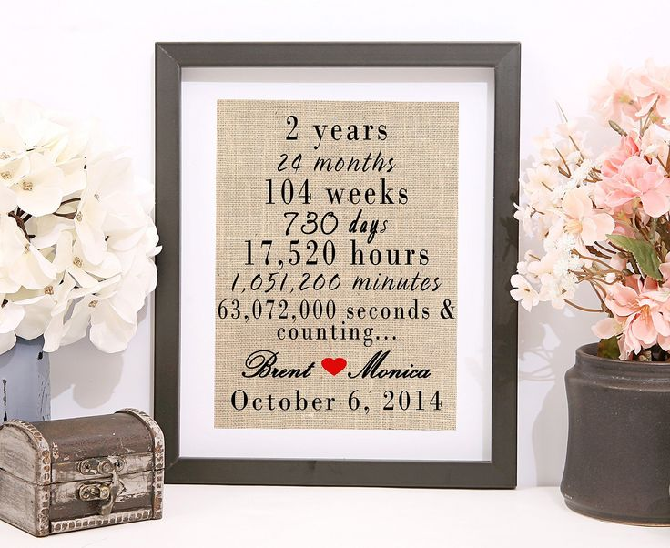 Second Anniversary Wedding Gift: 1000+ Ideas About 2nd Anniversary On Pinterest