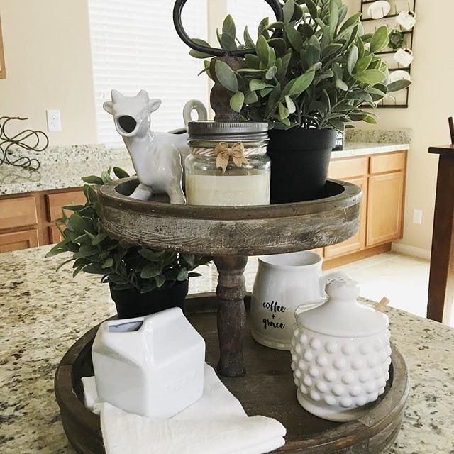 I Spy Our White Jar On This Lovinlgy Styled 2 Tier Tray