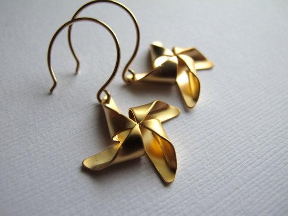 Pinwheel Earrings - Aretes molino
