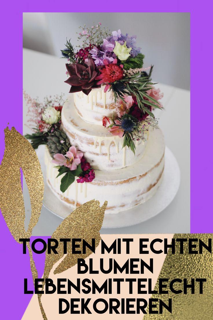 Torten mit echten Blumen zu dekorieren, liegt derzeit voll im Trend. Da ist es …