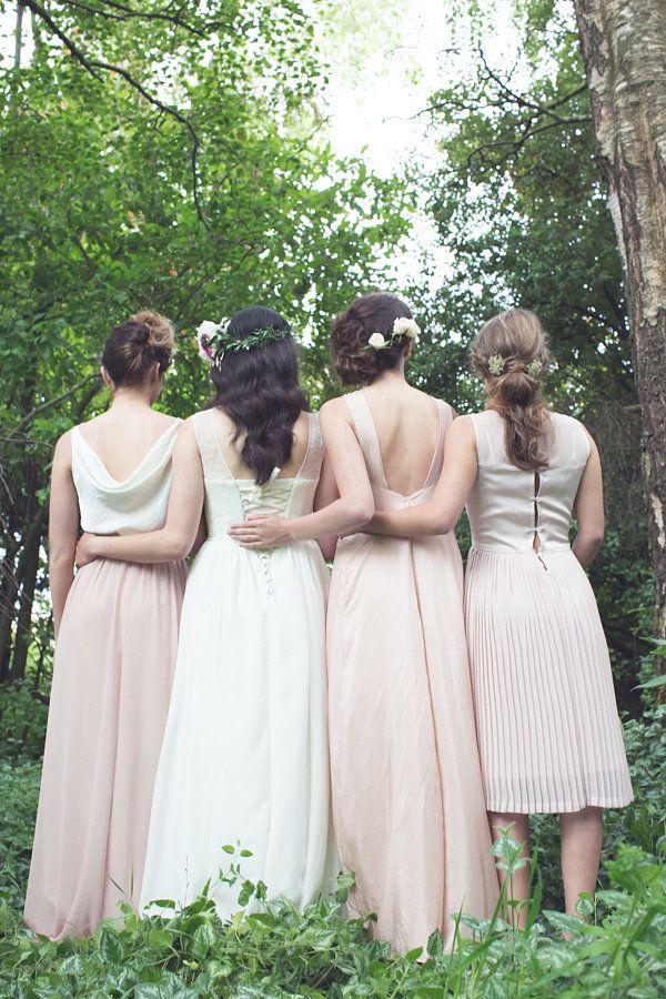 ViCTOR Blush Bridesmaid Dresses
