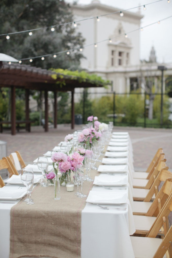 Garden wedding at Balboa Park. Photography by joielala.com