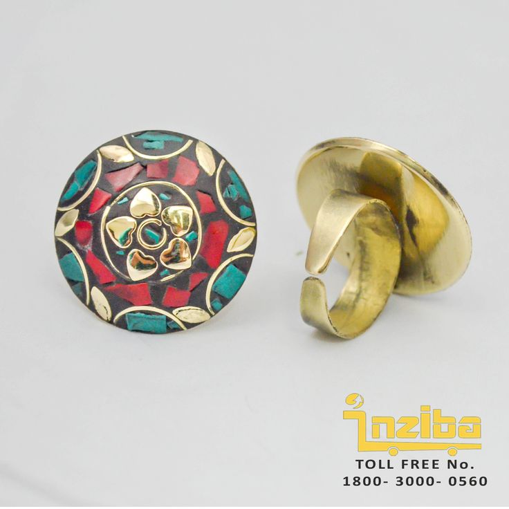 To Order visit www.inziba.org/... Free COD/ Shipping in Delhi only Exquisitely designed, this traditional ring from Inziba promises to please every eye that sets on it. It is a must buy for yourself and your loved ones.