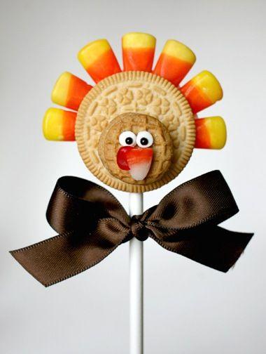 thanksgiving-cookie-pop (cute kids craft)