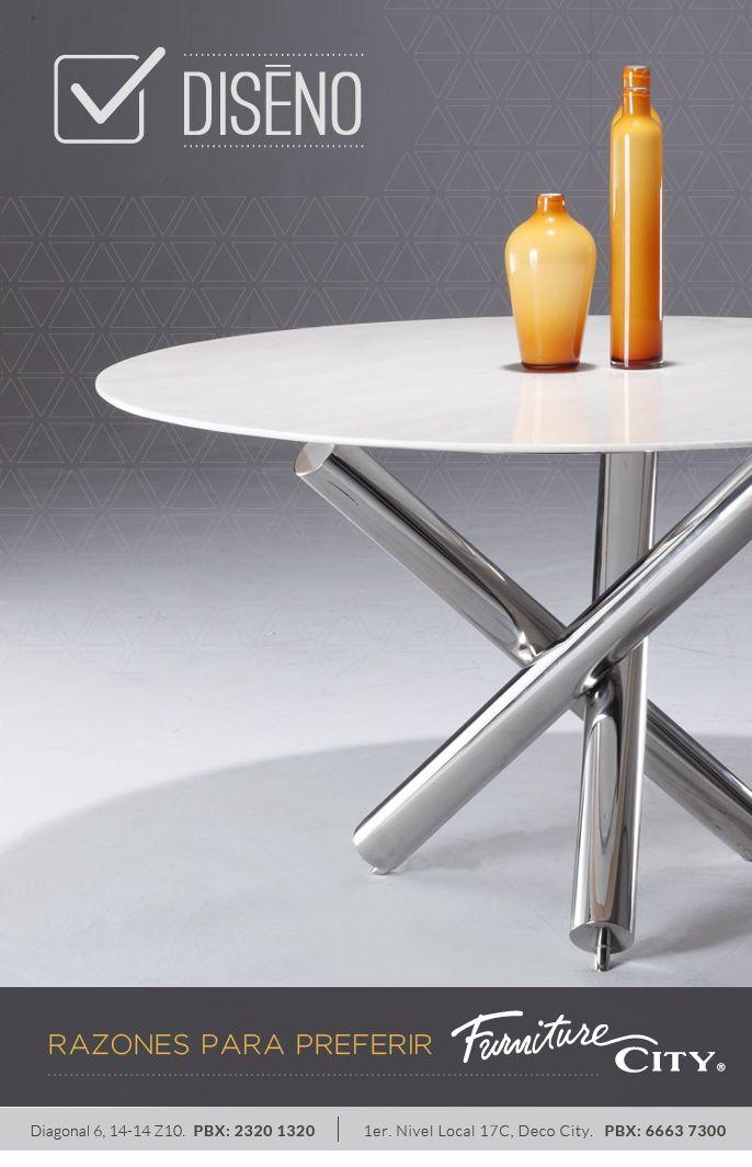 Razones para preferir Furniture City: DISEÑO  En Furniture City innovamos constantemente para ofrecerle lo último en diseños y tendencias en todos nuestros productos.