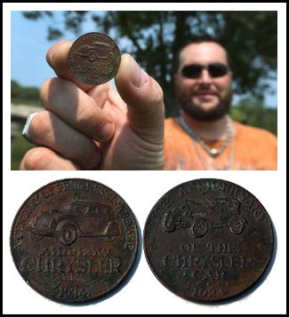 Man Unearths Some Chrysler History In His Back Garden  #Chrysler #Airflow #Coin #Dilawri #Jetsons