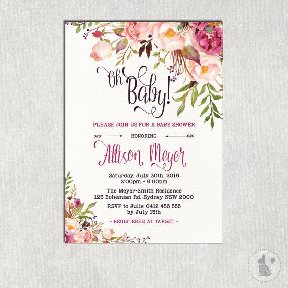 113 best Floral Baby Shower images – Garden Party Baby Shower Invitations