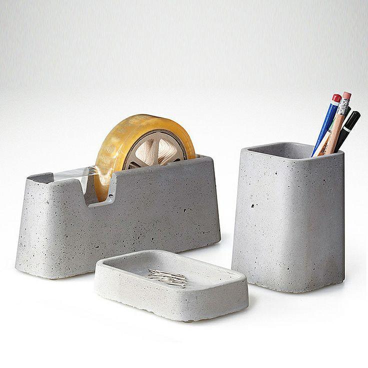 top3 by design - Areaware - Magnus Pettersen - areaware concrete desk set