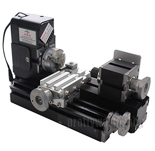 Metal Mini Motorized Lathe Machine Woodworking DIY Power Tools Hobby Modelmaking | Benchtop Lathe