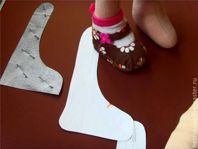 МК.. Ботинки для куклы. - Ярмарка Мастеров - ручная работа, handmade