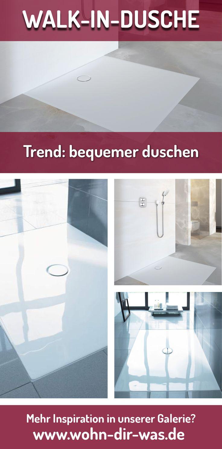 Warum umständlich in die hohe #Duschtasse klettern, wenn man auch  einen komfortablen Einstieg haben kann? Walk-in-Duschen sind die Antwort - und voll im Trend!  Mehr Informationen über Walk-in-Duschen unter www.wohn-dir-was.de  Bildmaterial (c) GEBERIT, HÜPPE, DURAVIT