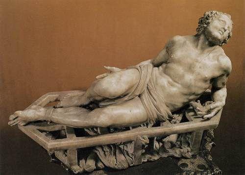 Bernini, Gian Lorenzo El Martirio de San Lorenzo  1614-1615  Mármol, 66 x 108 cm  Galleria degli Uffizi, Florencia