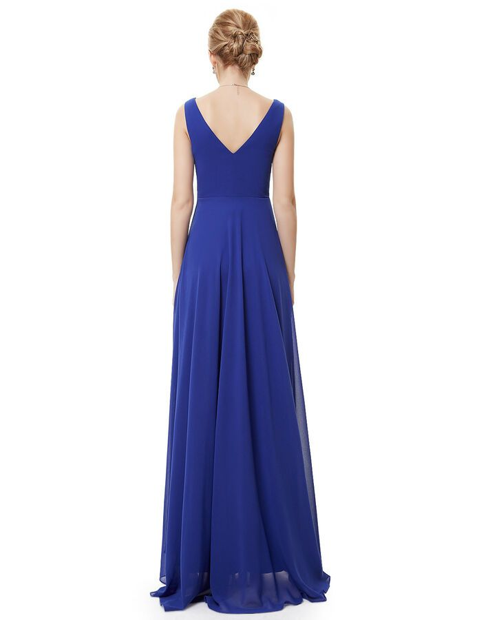 Ever Pretty Women Long Prom Party Dress High Low V Neck Bridesmaid Dresses 09983 Prom Party Pretty Bridesmaid Dresses Formal Dresses For Women Chiffon Fashion