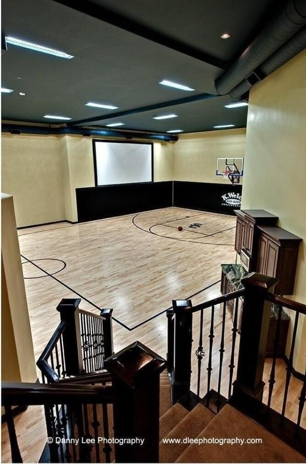 78 ideas about indoor basketball court on pinterest for Personal basketball court