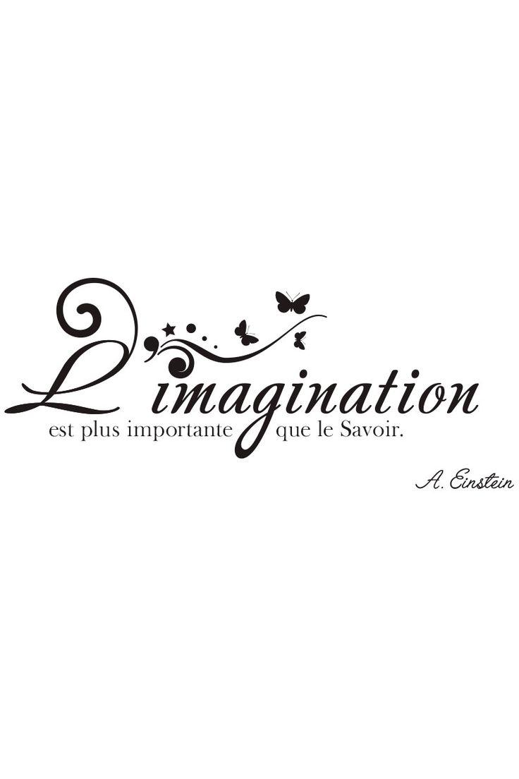Vente AMBIANCE STICKER / 23259 / Lettrage / Citations en français / Sticker Einstein Noir