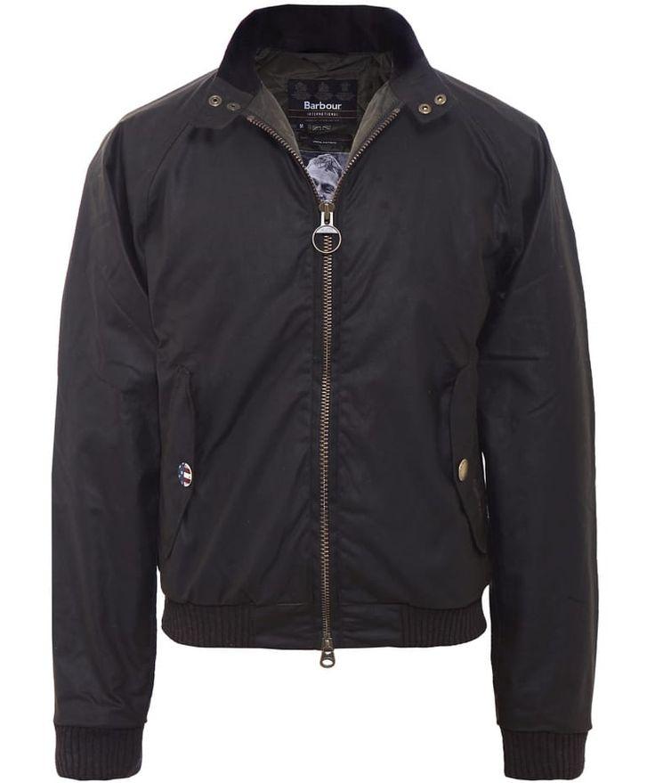 Barbour International Green Merchant Wax Bomber Jacket | Jules B