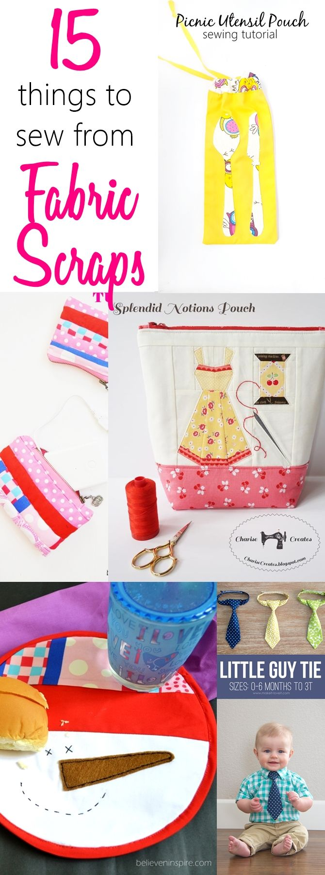15 things to sew from fabric scraps. Easy things to sew with scraps, cool things to make out of fabric scraps, things to make out of fabric scraps, scrap busters