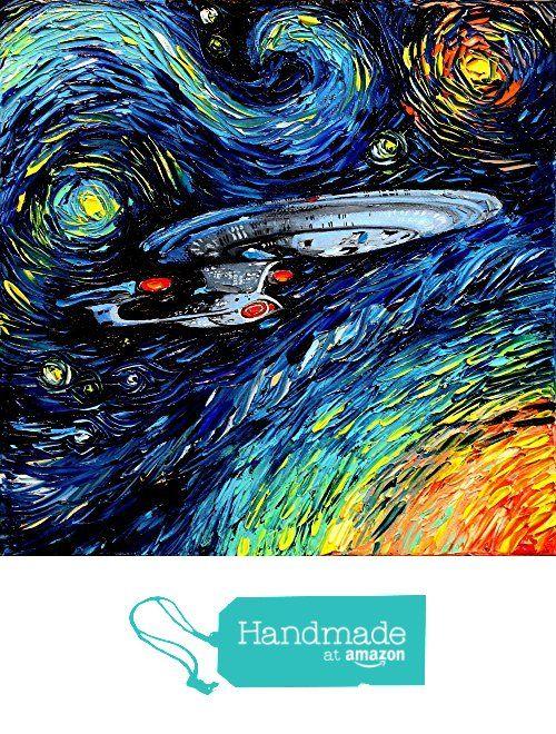 Star Trek Art - Fine art print - giclee - Starship Enterprise - Space - van Gogh Never Boldly Went - Art by Aja 8x8, 10x10, 12x12, 20x20, 24x24 inch print sizes from Sagittarius Gallery http://smile.amazon.com/dp/B017JNLVVW/ref=hnd_sw_r_pi_dp_4IjKwb0FAFHKS #handmadeatamazon