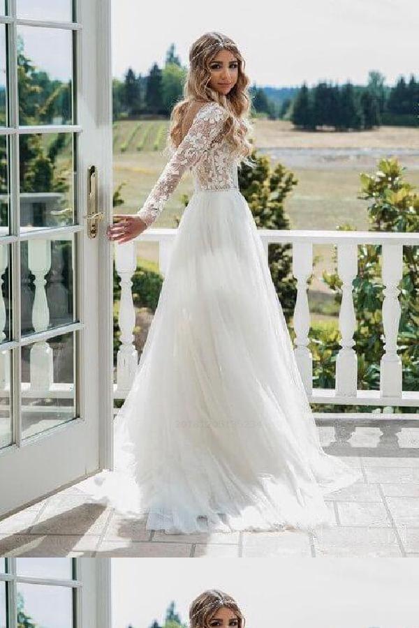 Hot Sale Vogue Wedding Dress Backless Lace Wedding Dress 2019