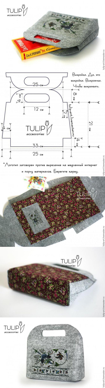 схема сборки кожаных лоскутов сумки