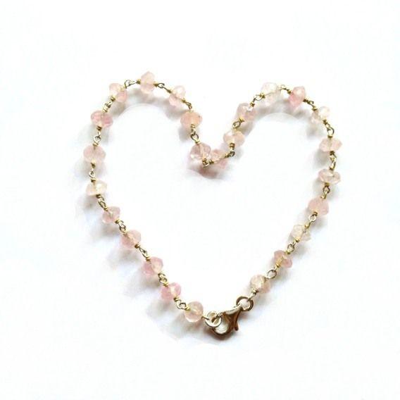 Bracciale dell'amicizia unisex - Quarzo rosa di Mademoiselle F su DaWanda.com