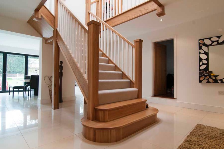 Best Chunky Spindles Oak Stairs House Staircase Staircase 400 x 300
