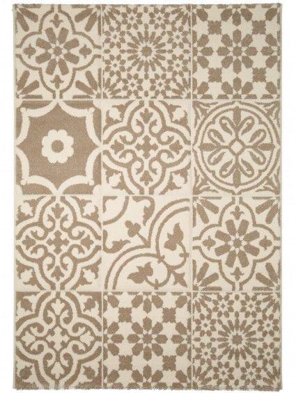 Tappeto Patchwork-Mosaico Bianco