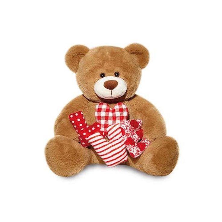 Urso de Pelúcia - Love Patch G  Ideal para encantar a pessoa amada e demonstrar o seu amor. Esse incrível urso chega a 40cm quando em pé. Encante quem você ama agora mesmo.