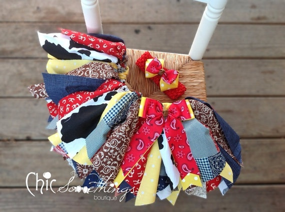 Fabric Tutu Cowgirl Jessie Shabby Chic Fabric by ChicSomethings. , via Etsy.
