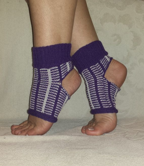 Knitted Yoga Socks Dancing Hipster Wear Socks by BareWolfSocks