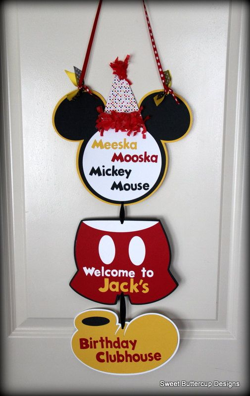 Minnie Mouse Clubhouse Door Sign by SBCDesign on Etsy, $22.00
