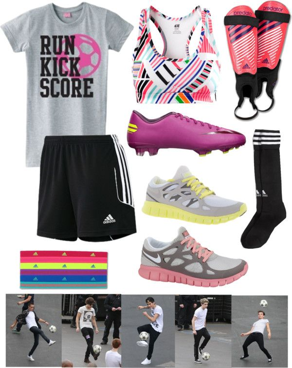 """my typical soccer gear"" by amlsoccergirl ❤ liked on Polyvore"