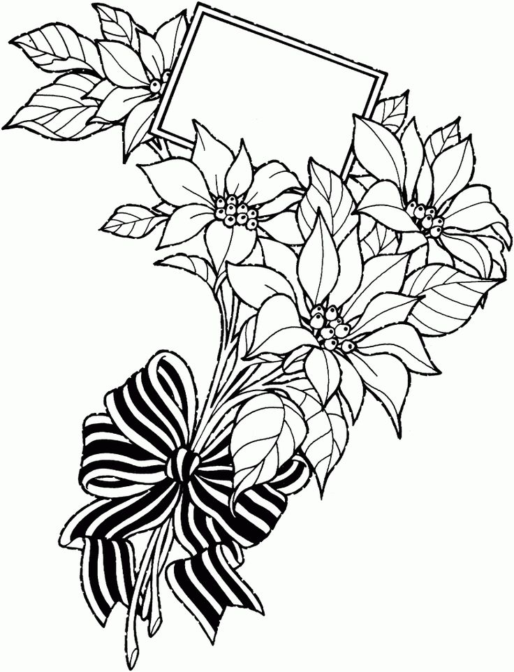 Best Flower Drawing Bouquet Of Flowers Drawing Clipart Best