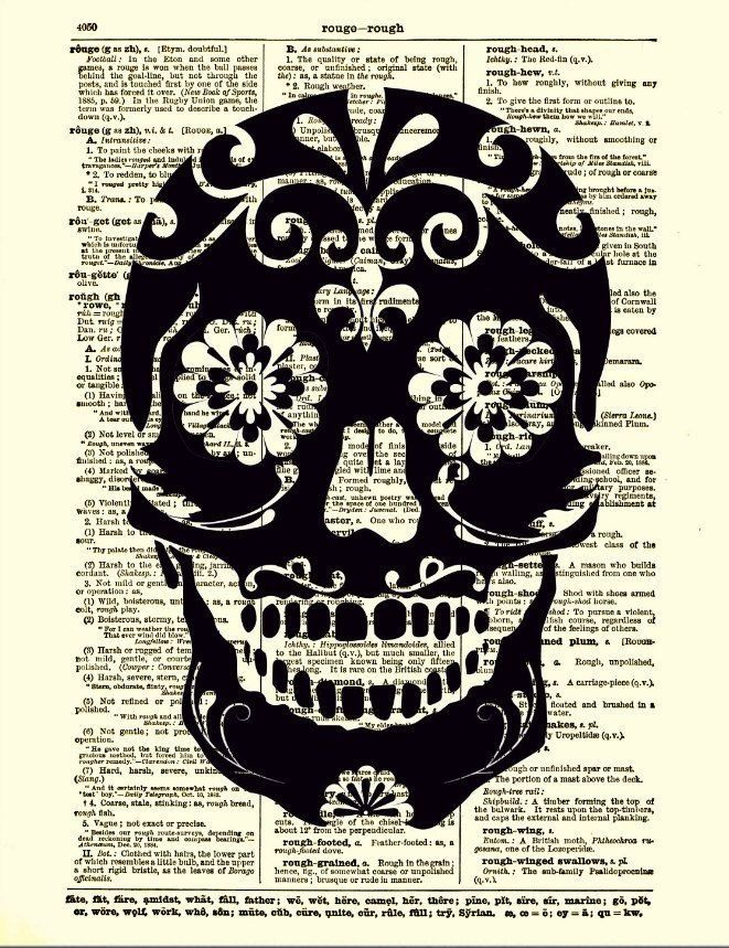 halloween skull art - Mexican Halloween Skulls