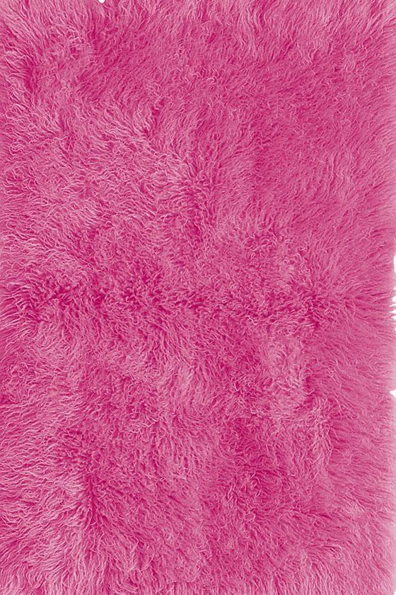 Teen Hot Pink Flokati Rug 11