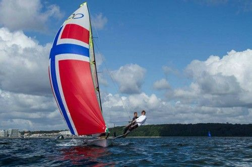 49er #sailing dinghy sail number 1428 with 2 Masts Available for sale In Flensburg