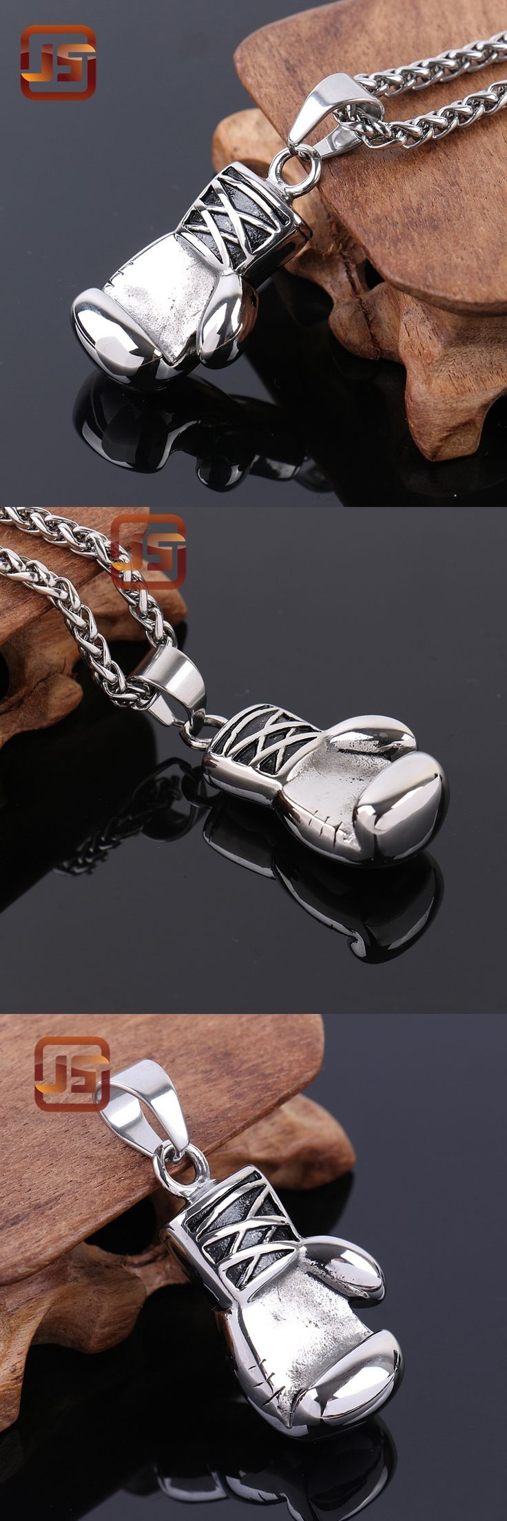 Boxing Glove Pendant Charm Necklace Sport Boxing Jewelry 316L Stainless Steel  Men pendant stainless steel mens jewelry