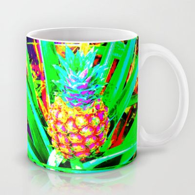 Pineapple Creation Mug by The Digital Weaver - $15.00