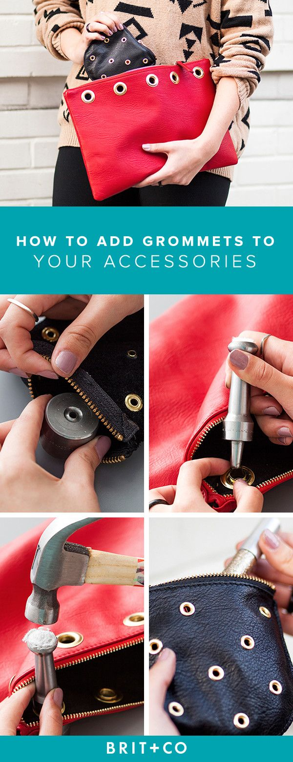 Grommets are the new studs! Follow this tutorial to learn how you can get in on the trend.