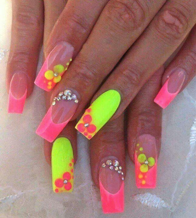Bright colors nails