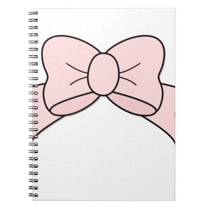 Pink Ribbon Notebook  $15.40  by Gridly  - cyo diy customize personalize unique