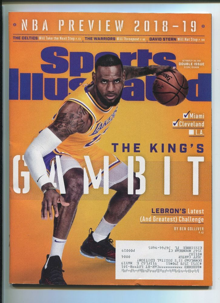 0aeee759bbae LeBRON JAMES - LOS ANGELES LAKERS - NBA PREVIEW 2018 - 19 SPORTS ILLUSTRATED