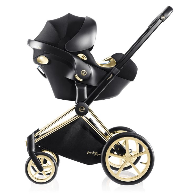 The capsule collection by Jeremy Scott for Cybex. What it looks like with the car seat on the frame